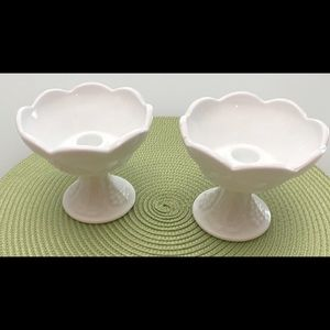 Other - Vintage Milk Glass Candlestick Holders